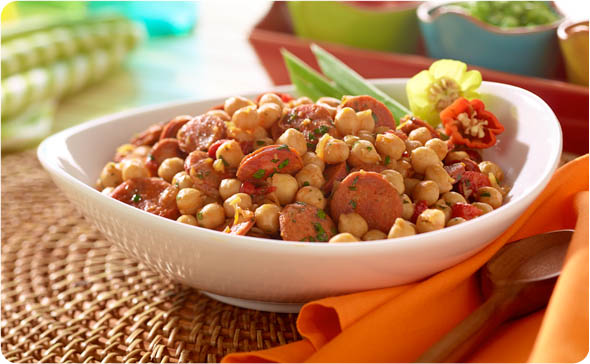 Garbanzo Bean and Chorizo Saute'