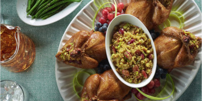 Grape Stuffed Cornish Hens recipe