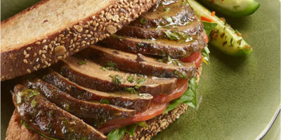 Grilled Basil Portobello Mushrooms recipe
