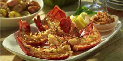 Grilled Lobster Tails with Fresh Chili Butter recipe