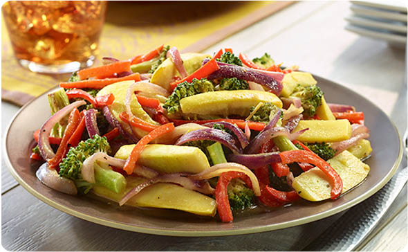 Indian Curry Summer Vegetable Pan Grill