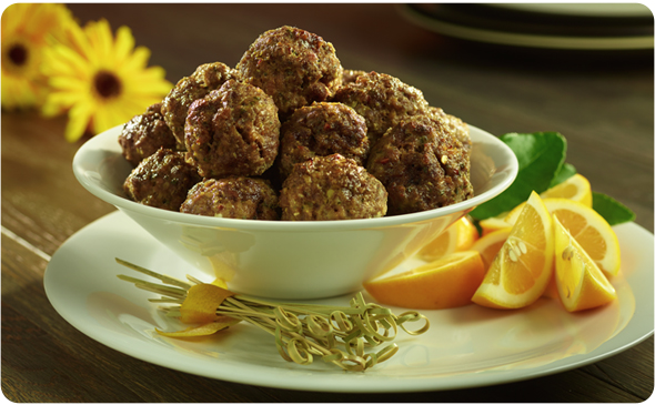 Meatballs With Lemon Zest