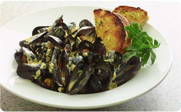 Mussels With Heavy Cream