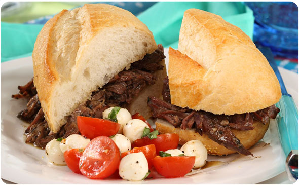 My Favorite Slow Cooker Italian Beef