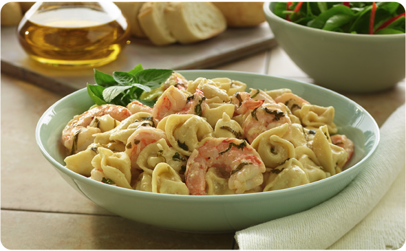 Poached Shrimp And Tortellini