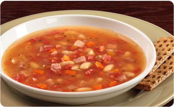 Shortcut Ham and Cannellini Bean Soup