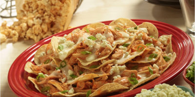 Slow Cooker Buffalo Chicken Nachos recipe