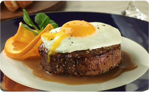 Steak & Fried Egg with Black Pepper Pan Gravy