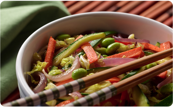 Sweet Gingered Vegetable Stir-Fry