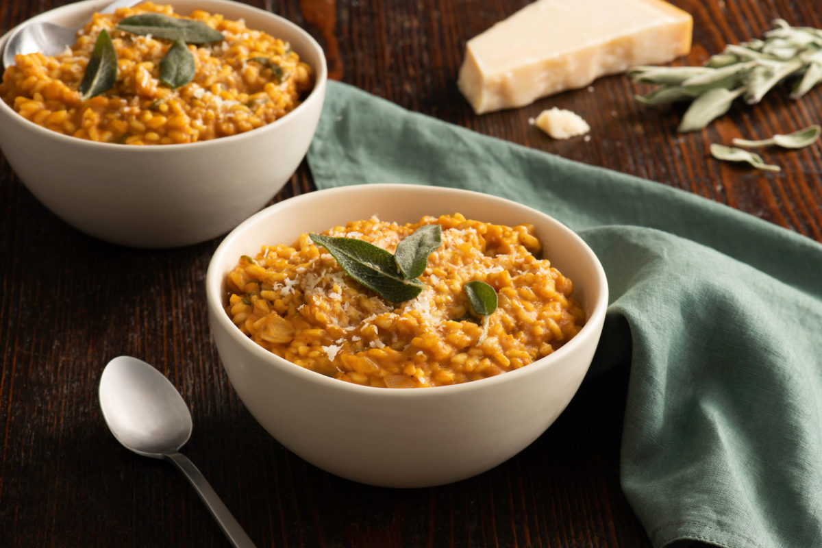 Brown Butter Pumpkin Risotto