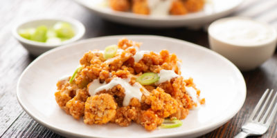 Slow Cooker Buffalo Cauliflower with Quinoa recipe