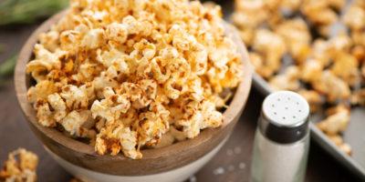 Garlic and Herb Parmesan Popcorn recipe