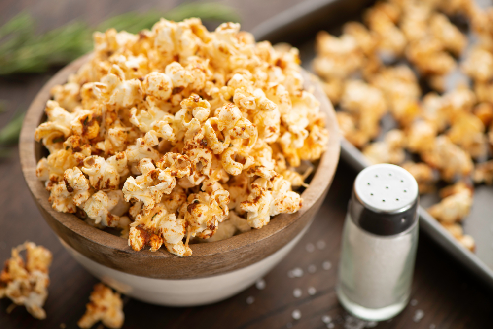 Garlic and Herb Parmesan Popcorn