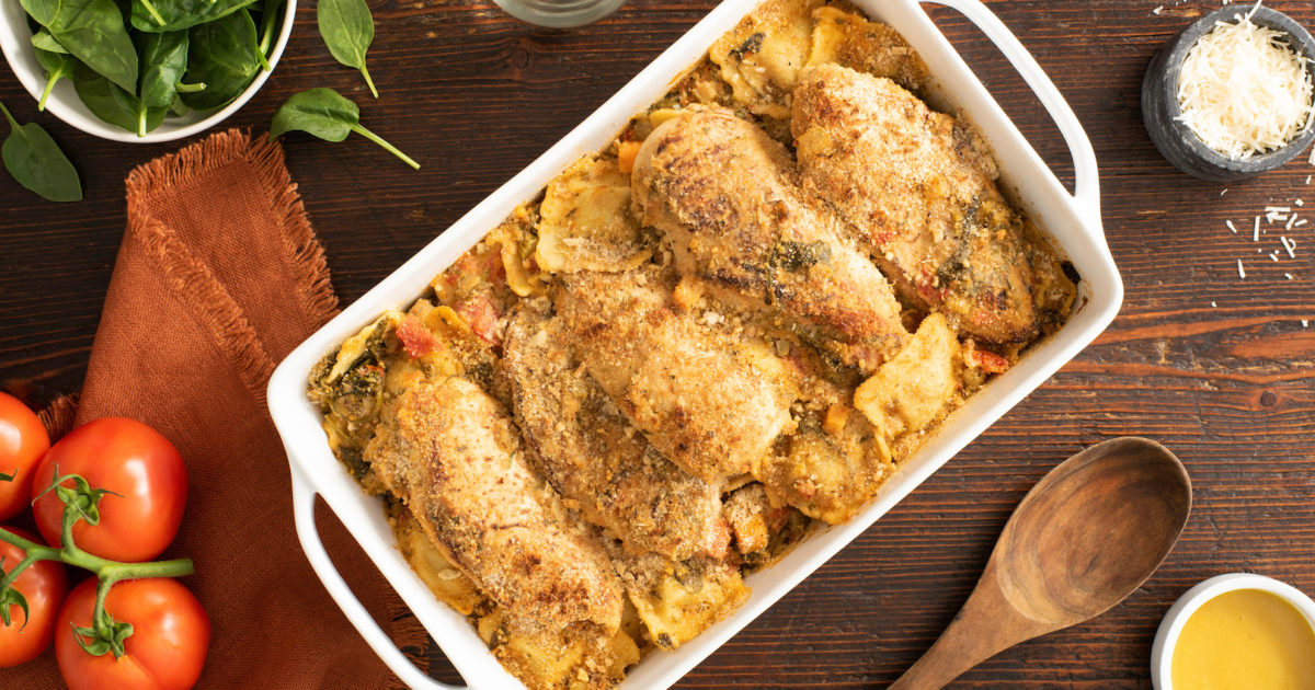 Tuscan Chicken Ravioli Bake Better Than Bouillon