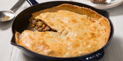 Easy Turkey Skillet Meat Pie recipe
