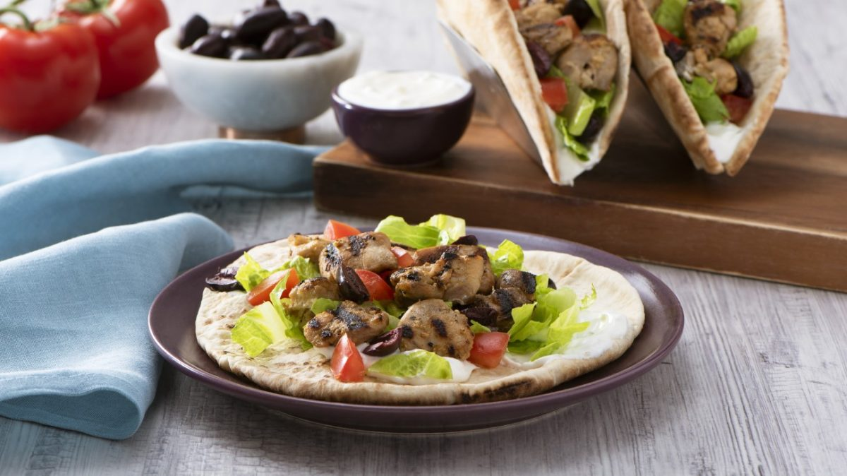 Greek Chicken Gyro Pitas