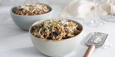 Mushroom & Farro Pilaf recipe