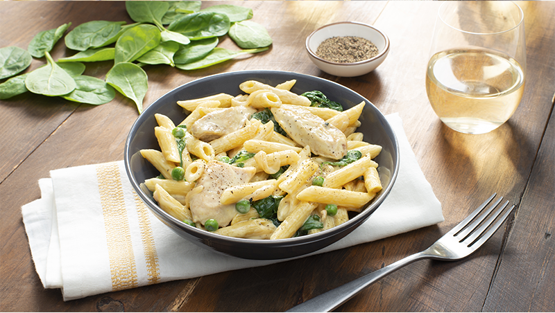 Creamy Chicken and Spinach Penne