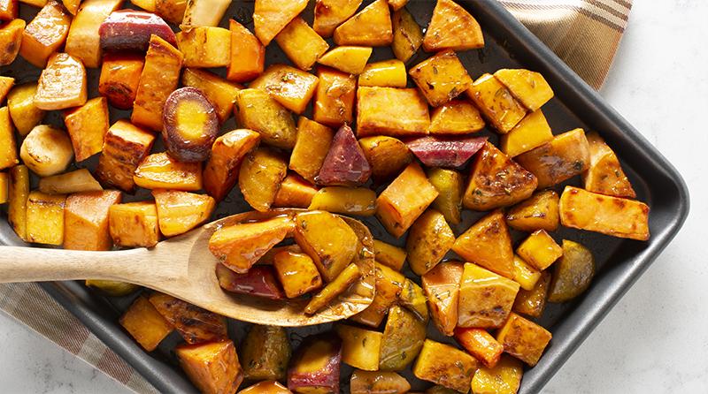 Roasted Veggies with Onion Glaze
