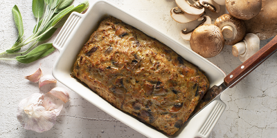 Turkey Mushroom Meatloaf recipe