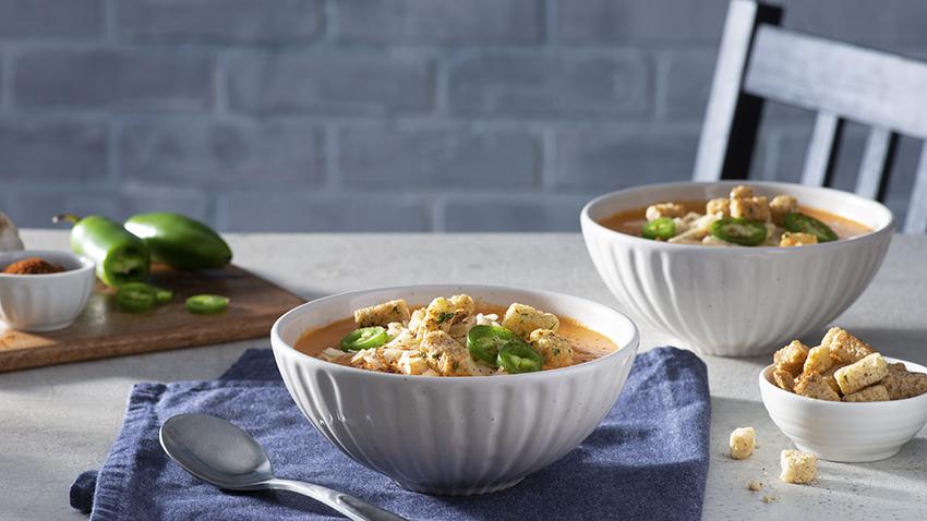 Jalapeño Popper Tomato Soup