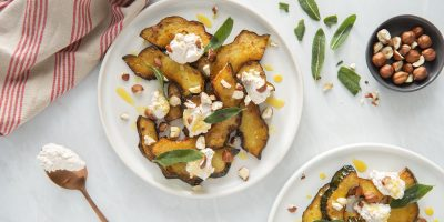 Maple Glazed Squash with Ricotta and Sage recipe