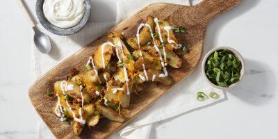 Loaded Slow Cooker Potatoes recipe