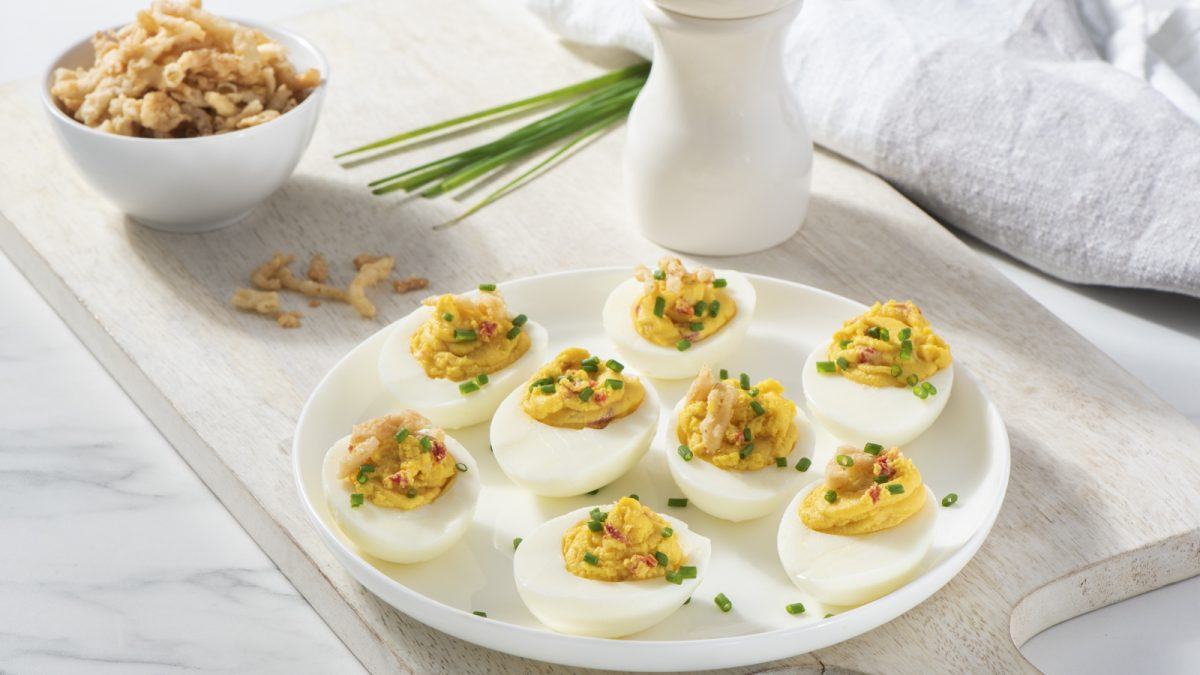 Roasted Garlic Deviled Eggs