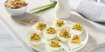 Roasted Garlic Deviled Eggs recipe