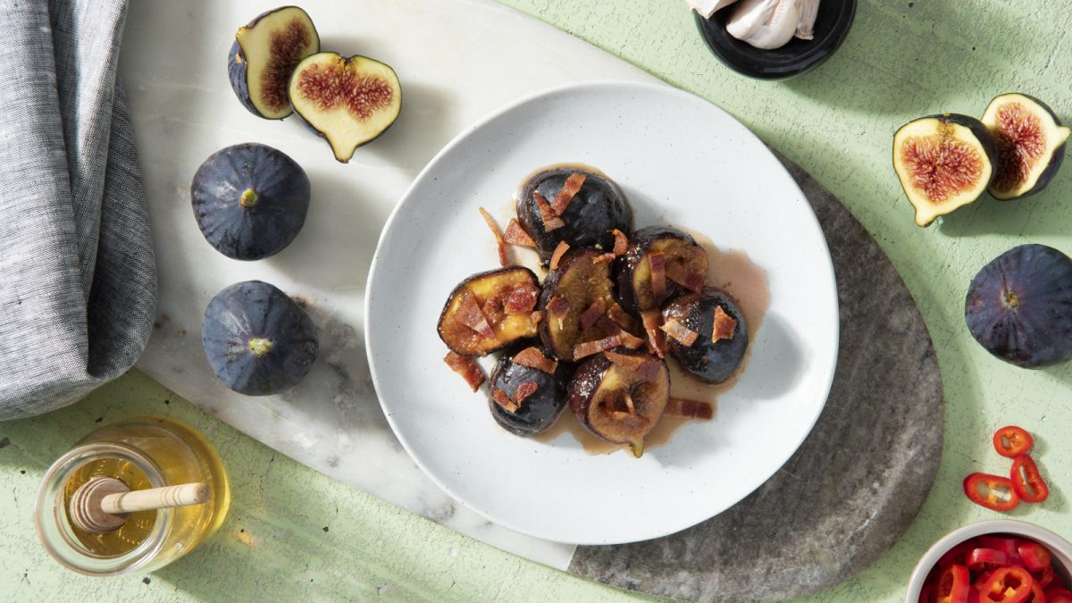 Sticky Figs with Bacon