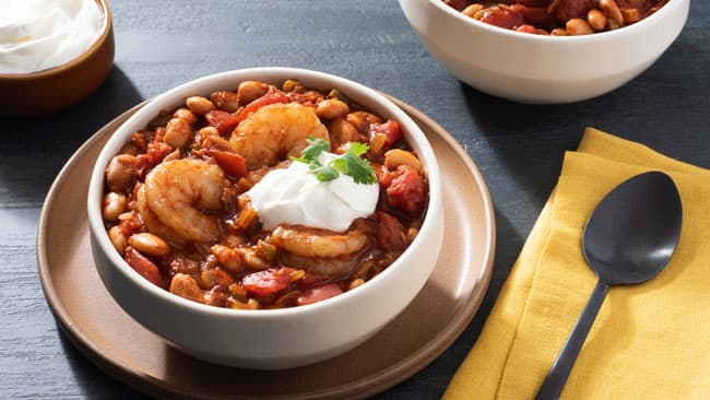Shrimp and Bean Chili