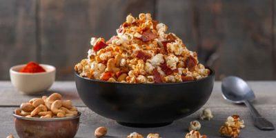 Caramel Garlic Bacon Popcorn recipe