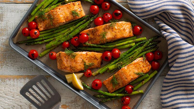 Sheet Pan Mustard Salmon