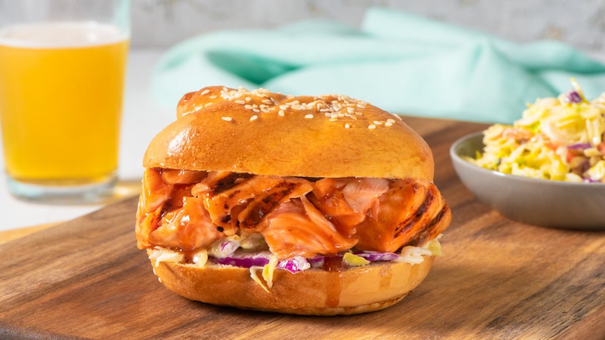 Barbecued Pulled Salmon Sandwiches