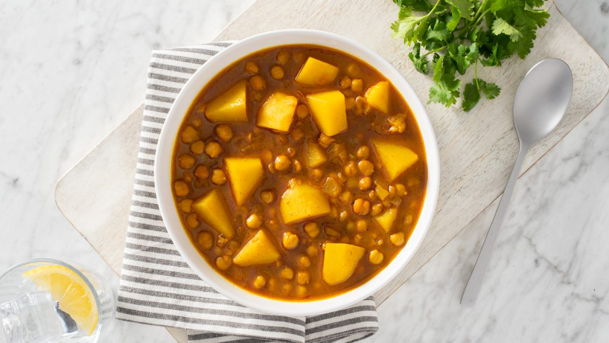 Chickpea and Potato Coconut Curry